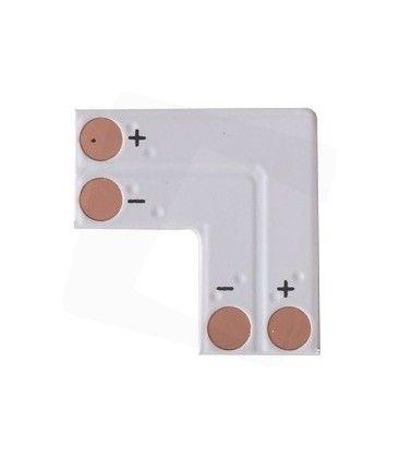 L-förlängare till enfärgade LED strips - Till 3528 strips (8mm bred), 12V / 24V