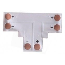 LED strip T-förlängare till enfärgade LED strips - Till 3528 strips (8mm bred), 12V / 24V