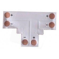 T-förlängare till enfärgade LED strips - Till 3528 strips (8mm bred), 12V / 24V