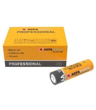 AA 10-pak AgfaPhoto Professional batteri - Alkaline, 1,5V