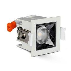 V-Tac 4W LED spotlight - Hål: 4,5x4,5 cm, Mål: 5,5x5,5 cm, UGR19, RA90, Samsung LED chip, 230V