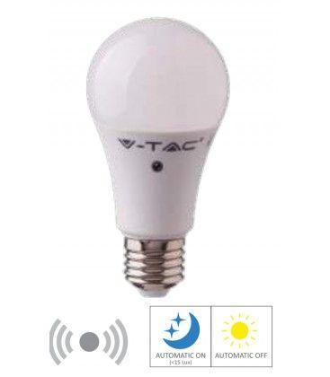 V-Tac 9W LED lampa - Rörelsesensor, 200 grader, A60, E27