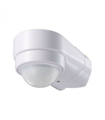 V-Tac rörelsesensor - LED venlig, vit, PIR infraröd, IP65 utomhusbruk