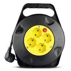 Diverse V-Tac kabelvinda - 10 meter, svart/gul