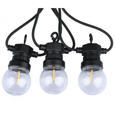 V-Tac LED ljusslinga med 10 stk. 0,4W lampor - 5 meter, IP44, 230V, inkl. ljuskälla