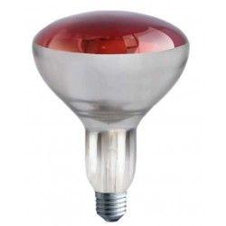 Röd E27 150W infraröd glødetrådlampa - Röd varmalampa, R125