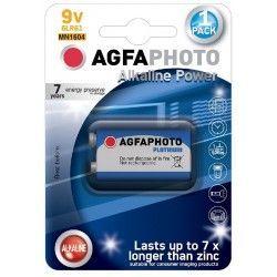 Batterier 1 stk AgfaPhoto Alkaline batteri - B1, 9V