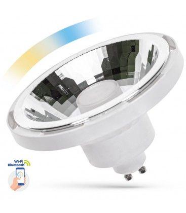 10W Vit Smart Home LED spotlight - Fungerar med Google Home, Alexa och smartphones, GU10 AR111