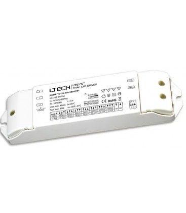Ltech 30W dimbar driver till LED panel - Triac+ push-dim, flicker free, passar till 6W och 12W LED downlight och stora 29W panel