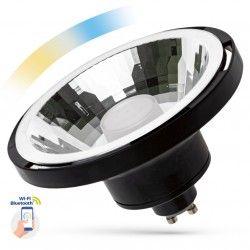 G53 AR111 LED 10W Svart Smarta Home LED spotlight - Verk med Google Home, Alexa och smartaphones, GU10 AR111