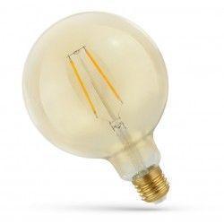 E27 LED 5W LED globlampa - Filament, rav färgad glas, extra varm, E27