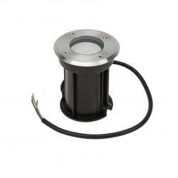 Utomhus spotlight - Rund, rostfrittt stål, GU10 sockel