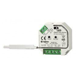 El-produkter Zigbee inbyggningsdimmer - 200W LED dimmer, fjädertryck/push dim, korsomkoppling, memory
