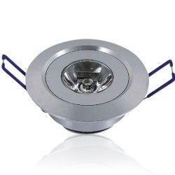 Downlights 1W LED downlight - Hål: Ø4,4-4,8 cm, Mål: Ø5,2 cm, 2,2 cm hög, dimbar, 12V/24V