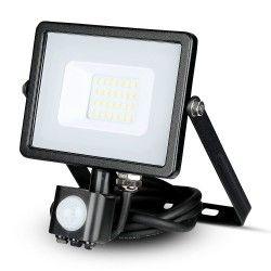 Strålkastare m/sensor LED Lagertömning: V-Tac 20W LED strålkastare med sensor - SMD