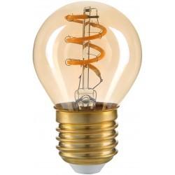 E27 LED 3W LED lampa - Filament LED, amberfärgad, G45, E27, 230V