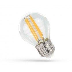 E27 LED 4W LED liten globlampa - G45, Filament, klartt glas, E27