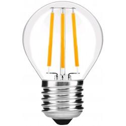 E27 LED 4W LED liten globlampa - Filament, G45, klartt glas, E27