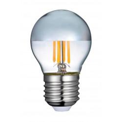 E27 LED 4W LED kronepære - Toppspeglad, dimbar, E27
