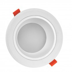 Downlights LED 15W LED spotlight - Hål: Ø13 cm, Mål: Ø15 cm, 230V, IP44 våtrum & takfot