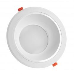 Downlights 25W LED spotlight - Hål: Ø21 cm, Mål: Ø23 cm, 230V, IP44 våtrum & takfot