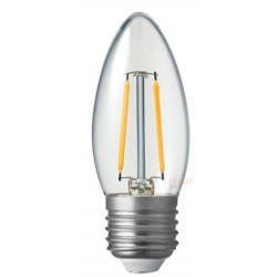 E27 LED Lagertömning: 2W LED kronljus - Filament, E27