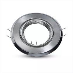 Downlight kit utan ljuskälla - Hål: Ø7 cm, Mål: Ø9,3 cm, Borstad stål, vælg MR16 eller GU10 sockel