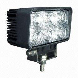 Strålkastare 18W LED arbetsbelysning - Bil, lastbil, traktor, trailer, nödfordon, kallvit, 12V / 24V