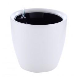 LED växtbelysning Självvattnande kruka Ø28 - Runda, vit, Ø28 cm