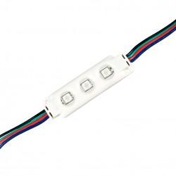 12V IP68 RGB Vattentät RGB LED modul - 0,72W, IP67, Perfekt till skyltar och speciallösningar