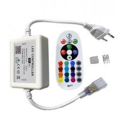 230V RGB 230V RGB WiFi Smart Home controller - Inkl. ändstycke, till 230V, minnesfunktion, soft start