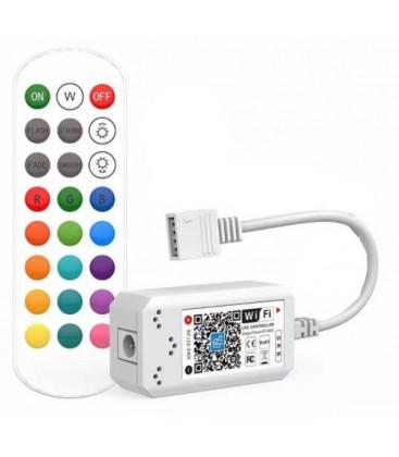 Smart Home RGB controller - Fungerar med Google Home, Alexa och smartphones, 12V (144W), 24V (288W)