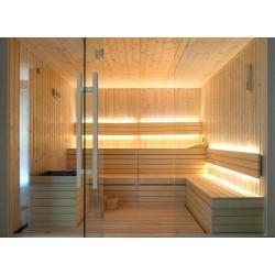 Bastubelysning Bastu LED strip - 1M, 8W per. meter, IP68, 24V