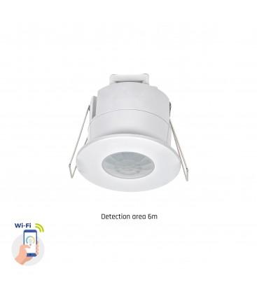 Smart Home infälld sensor - PIR infraröd, 360 grader, 230V, IP20 inomhus