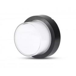 Utomhus vägglampa V-Tac 7W LED svart vägglampa - Rund, IP65 utomhusbruk, 230V, inkl. ljuskälla