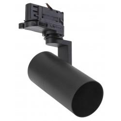 Takspotlights Svart skenaspotlight med GU10 sockel - Passa till V-Tac skenor, 3-fas, utan ljuskälla