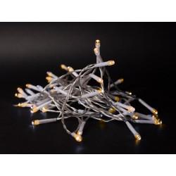 El-produkter 1 meter inomhus LED juleljusslinga - Batteri, 10 LED, varm vit