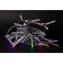 El-produkter 1 meter inomhus LED juleljusslinga - Batteri, 10 LED, multicolor