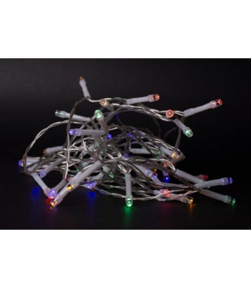 1 meter inomhus LED juleljusslinga - Batteri, 10 LED, multicolor
