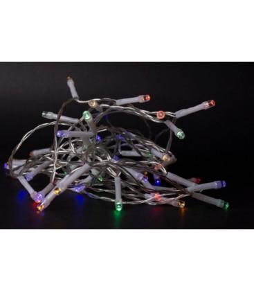 2 meter inomhus LED juleljusslinga - Batteri, 20 LED, multicolor