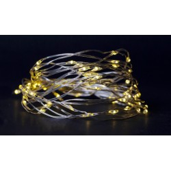 El-produkter 4 meter inomhus LED juleljusslinga - Batteri, 80 LED, varm vit