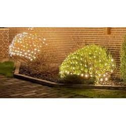 2 x 1,5 meter utomhus LED juleljusslinganet - IP44, 230V, 160 LED, varm vit