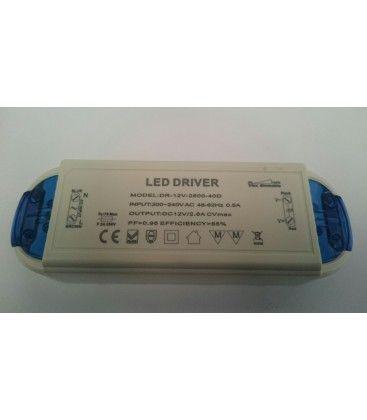 30W dimbar strömförsörjning - 12V DC, 2,5A, IP20 inomhus