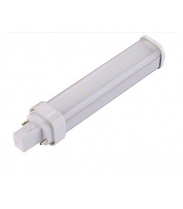 LEDlife G24Q LED lampa - 7W, 120°, varmvitt, matt glas