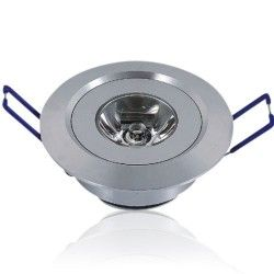 LED Downlights 1W downlight - Hål: Ø4,4-4,8 cm, Mål: Ø5,2 cm, 2,2 cm hög, 230V