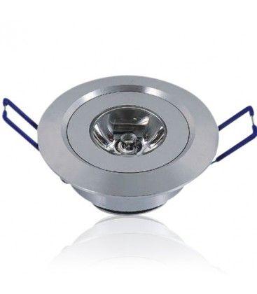 1W downlight - Hål: Ø4,4-4,8 cm, Mål: Ø5,2 cm, 2,2 cm hög, 230V