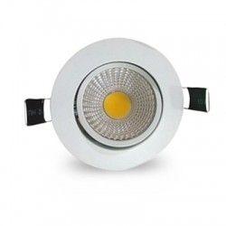 Downlights LED 3W downlight - Hål: Ø6,7-8 cm, Mål: Ø8,5 cm, vit kant, dimbar, 12V