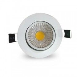Downlights 3W downlight - Hål: Ø6,7-8 cm, Mål: Ø8,5 cm, vit kant, dimbar, 12V/24V