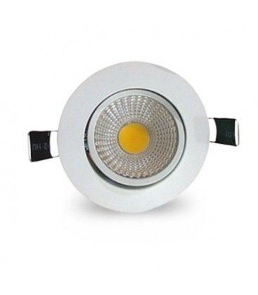 3W downlight - Hål: Ø6,7-8 cm, Mål: Ø8,5 cm, vit kant, dimbar, 12V/24V