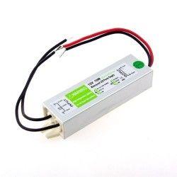 12V RGB 10W strömförsörjning - 12V DC, 0,8A, IP67 vattentät